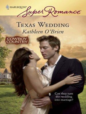 cover image of Texas Wedding