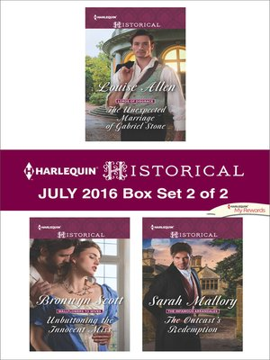 cover image of Harlequin Historical July 2016, Box Set 2 of 2