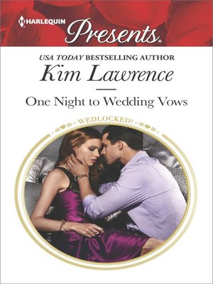 cover image of One Night to Wedding Vows