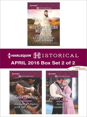 cover image of Harlequin Historical April 2016, Box Set 2 of 2