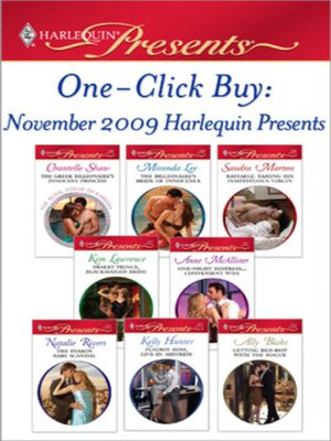 cover image of One-Click Buy: November 2009 Harlequin Presents