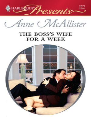 cover image of Boss's Wife for a Week