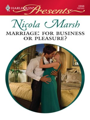 cover image of Marriage: For Business or Pleasure?