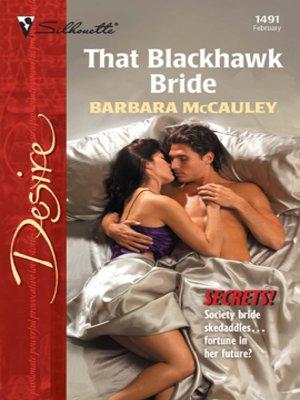 cover image of That Blackhawk Bride
