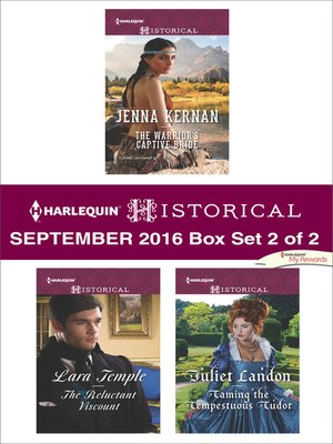 cover image of Harlequin Historical September 2016, Box Set 2 of 2