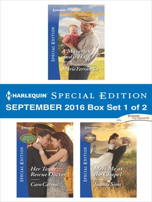 cover image of Harlequin Special Edition September 2016, Box Set 1 of 2