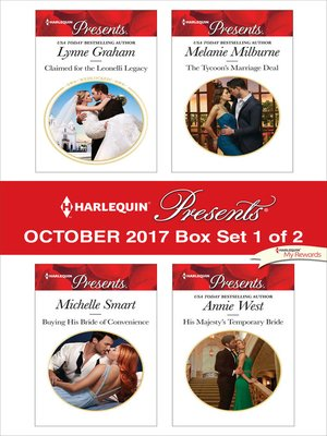 cover image of Harlequin Presents October 2017--Box Set 1 of 2