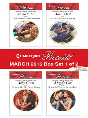 cover image of Harlequin Presents March 2016--Box Set 1 of 2--An Anthology