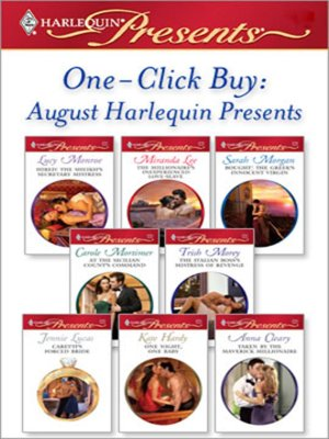 cover image of August Harlequin Presents