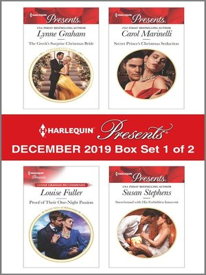 cover image of Harlequin Presents--December 2019--Box Set 1 of 2