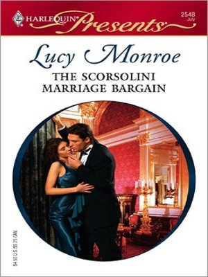 cover image of The Scorsolini Marriage Bargain