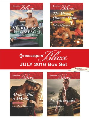 cover image of Harlequin Blaze July 2016 Box Set