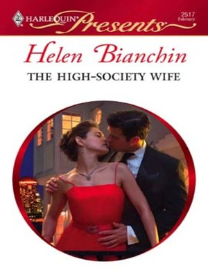 cover image of The High-Society Wife