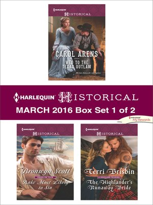 cover image of Harlequin Historical March 2016--Box Set 1 of 2--An Anthology
