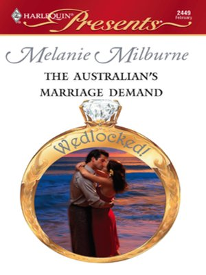 cover image of The Australian's Marriage Demand
