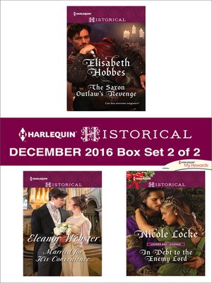 cover image of Harlequin Historical December 2016, Box Set 2 of 2