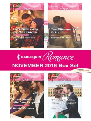 cover image of Harlequin Romance November 2016 Box Set