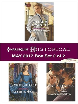cover image of Harlequin Historical May 2017, Box Set 2 of 2