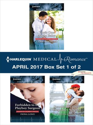 cover image of Harlequin Medical Romance April 2017, Box Set 1 of 2