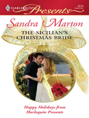 cover image of Sicilian's Christmas Bride