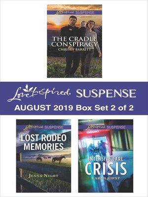 cover image of Harlequin Love Inspired Suspense August 2019, Box Set 2 of 2