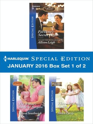 cover image of Harlequin Special Edition January 2016--Box Set 1 of 2