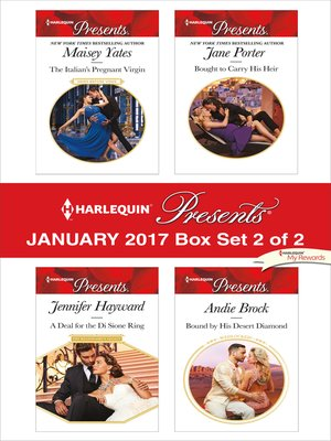 cover image of Harlequin Presents January 2017, Box Set 2 of 2
