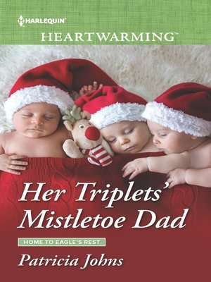 cover image of Her Triplets' Mistletoe Dad