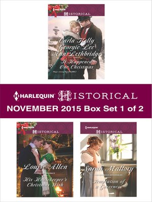 cover image of Harlequin Historical November 2015, Box Set 1 of 2