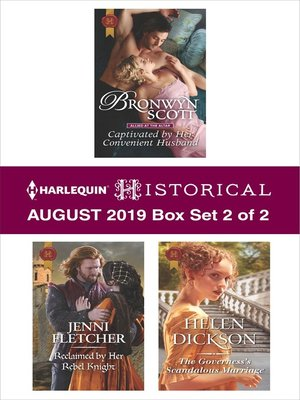 cover image of Harlequin Historical August 2019, Box Set 2 of 2