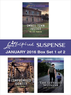 cover image of Love Inspired Suspense January 2016, Box Set 1 of 2
