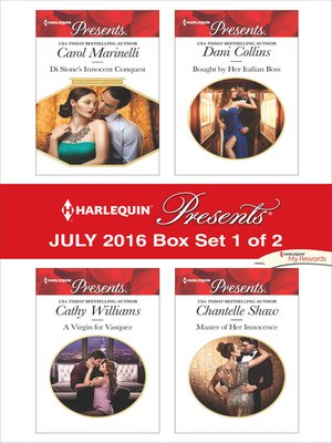 cover image of Harlequin Presents July 2016, Box Set 1 of 2