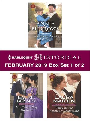 cover image of Harlequin Historical February 2019, Box Set 1 of 2