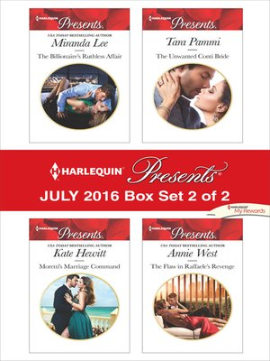 cover image of Harlequin Presents July 2016, Box Set 2 of 2