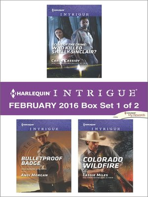 cover image of Harlequin Intrigue February 2016, Box Set 1 of 2
