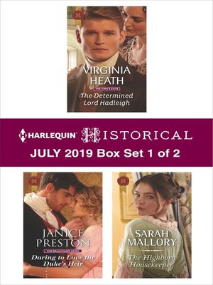 cover image of Harlequin Historical July 2019, Box Set 1 of 2