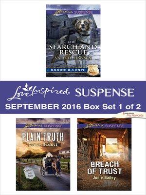 cover image of Harlequin Love Inspired Suspense September 2016--Box Set 1 of 2