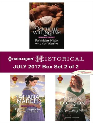 cover image of Harlequin Historical July 2017, Box Set 2 of 2