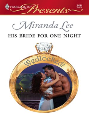 cover image of His Bride for One Night