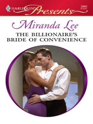 cover image of Billionaire's Bride of Convenience