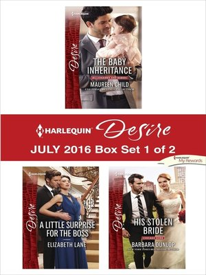 cover image of Harlequin Desire July 2016, Box Set 1 of 2