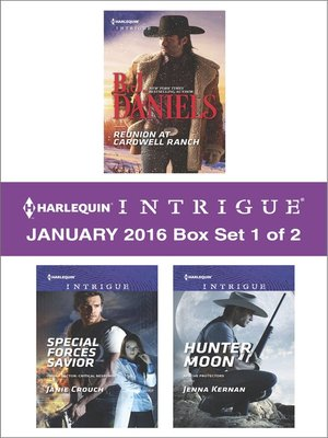 cover image of Harlequin Intrigue January 2016, Box Set 1 of 2