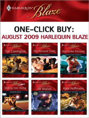 cover image of August 2009 Harlequin Blaze