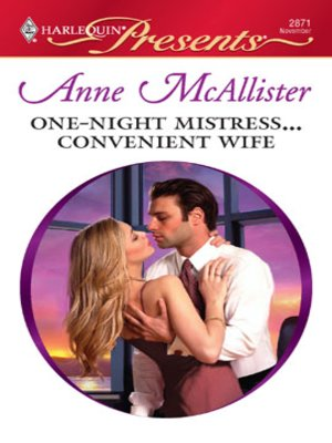 cover image of One-Night Mistress...Convenient Wife
