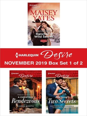 cover image of Harlequin Desire November 2019--Box Set 1 of 2