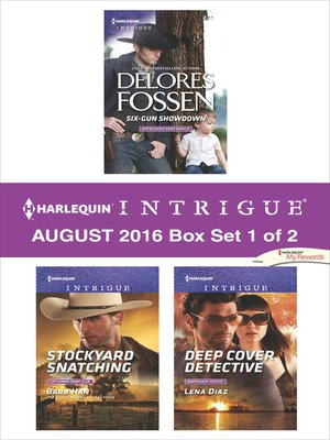 cover image of Harlequin Intrigue August 2016, Box Set 1 of 2