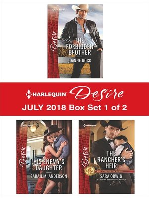 cover image of Harlequin Desire July 2018--Box Set 1 of 2
