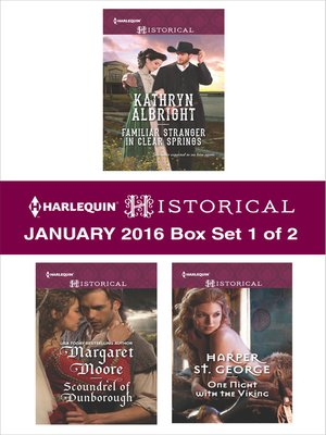 cover image of Harlequin Historical January 2016, Box Set 1 of 2