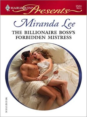 cover image of The Billionaire Boss's Forbidden Mistress