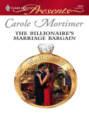 The billionaires marriage bargain by carole mortimer overdrive the billionaires marriage bargain fandeluxe Choice Image